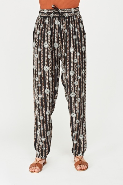 Printed Tapered Joggers