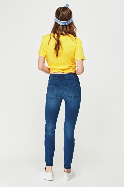 Super Skinny Washed Denim Jeans
