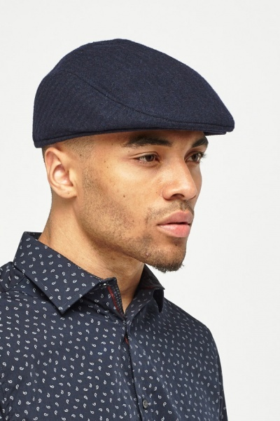 Wool Blended Flat Cap