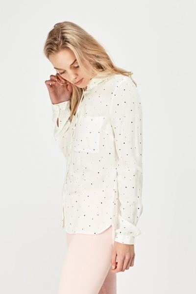 Printed Long Sleeve Shirt
