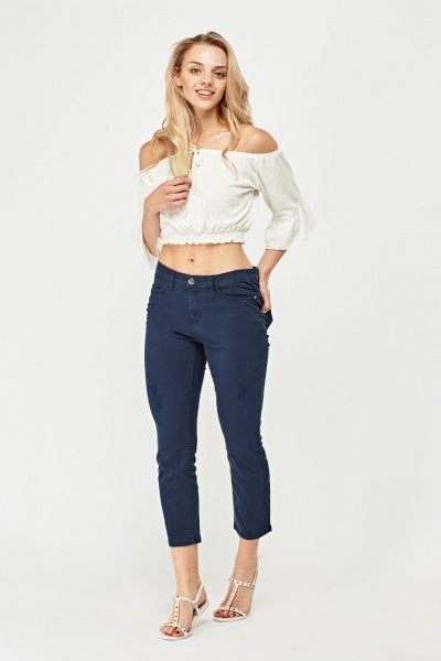 Skinny Ankle Cropped Jeans