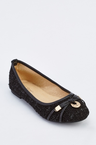 Detailed Front Ballet Pump Shoes