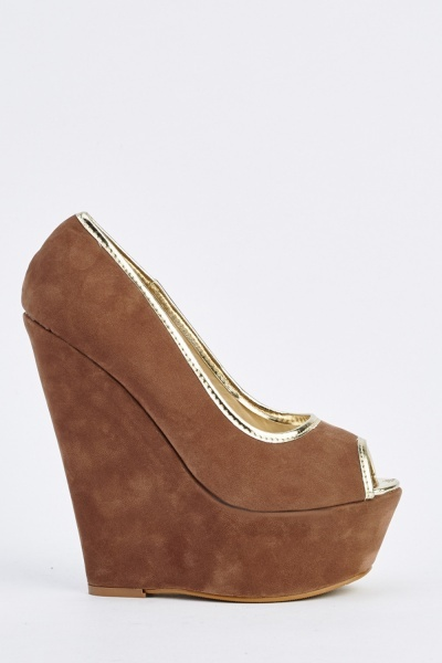 High Heel Platform Wedge Shoes