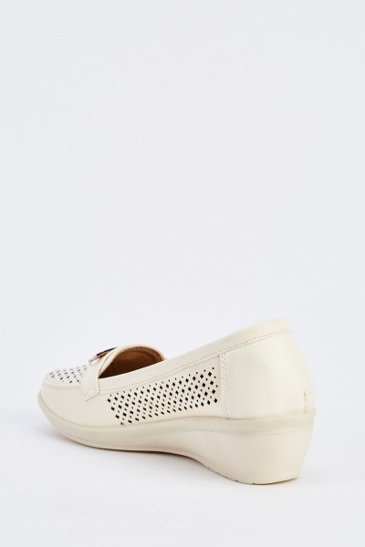 Laser Cut Detail Wedge Shoes