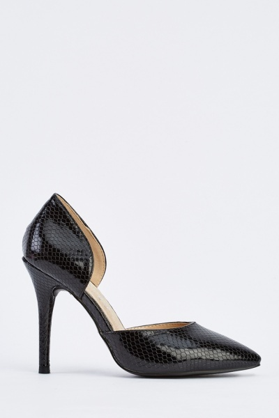 Pointy D'orsay Heeled Pump Shoes