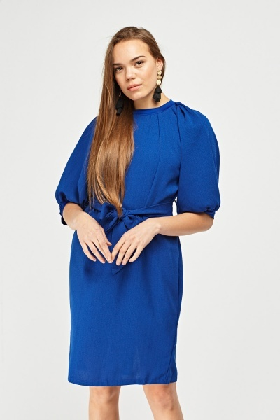 Bishop Sleeve Shift Dress