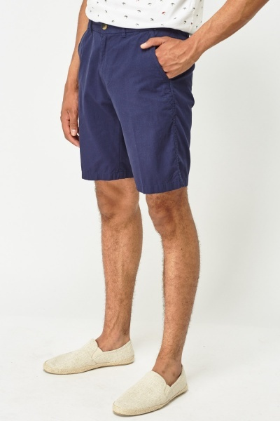 Mens Fitted Waist Chino Shorts
