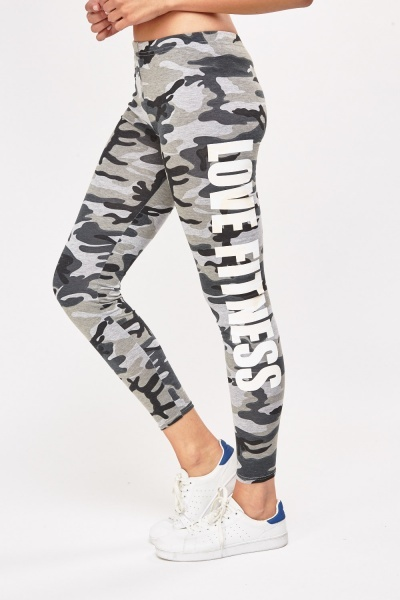 Camouflage Print Sports Leggings