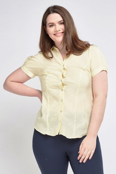Lime Pinstripe Top