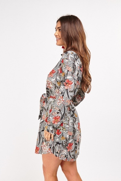 Botanical Printed Shirt Dress
