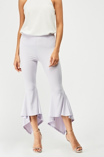 Fish Tail Hem Trousers