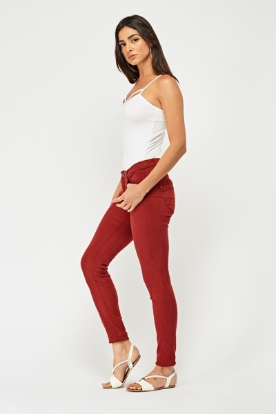 Low Rise Push Up Jeans