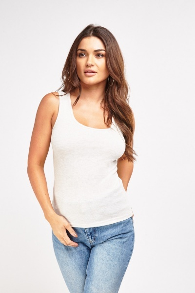 Scoop Neck Jersey Vest