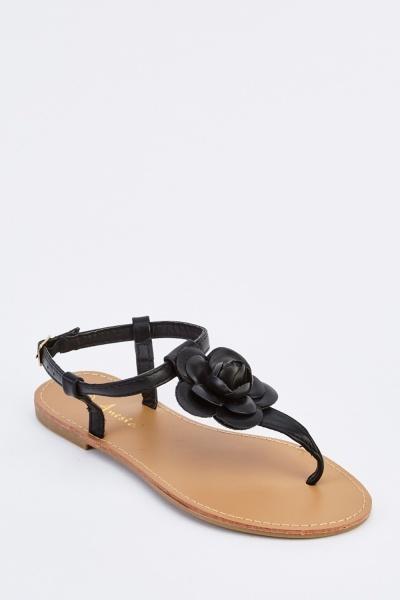 3D Faux Leather Sandals