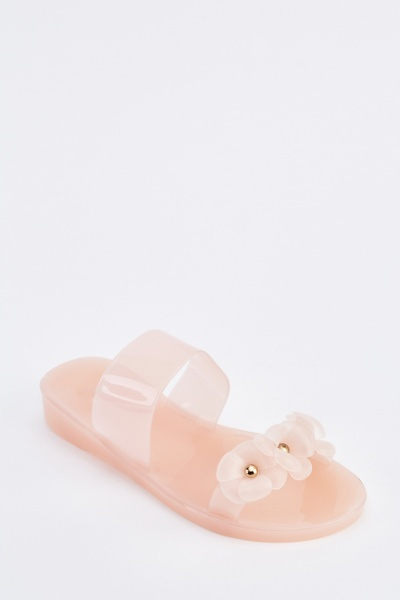 3D Flower Jelly Sandals
