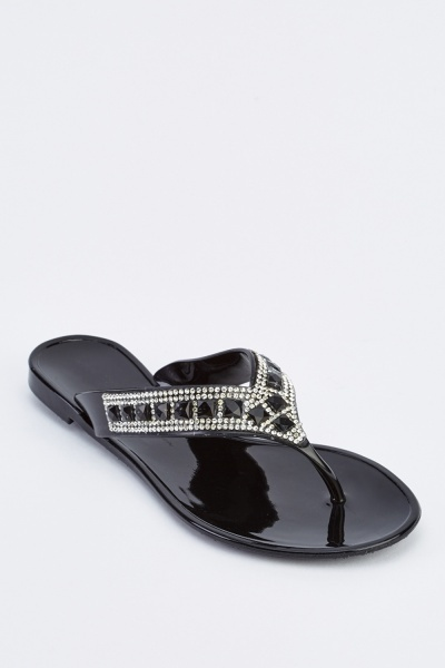 Embellished Flip Flop Shoes