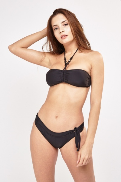 Basic Halter Neck Bikini Set