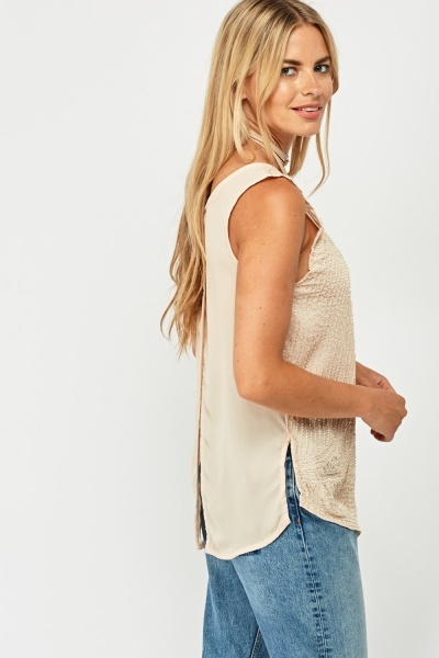 Beaded Sleeveless Top