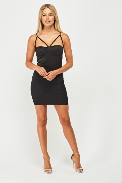 Double Strappy Bodycon Dress