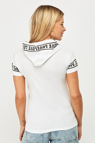 Hooded Love Graphic Top