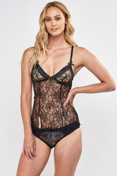 Lace Triangle Bustier