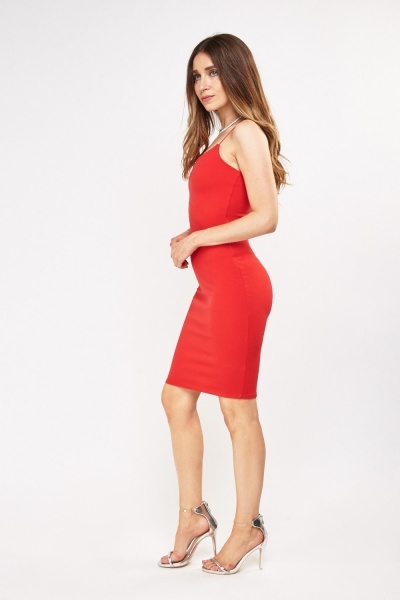 Spaghetti Strap Textured Dress