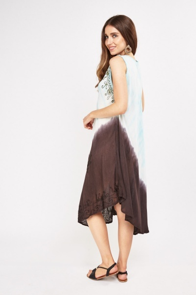 Stitched Dip-Dyed Tent Dress