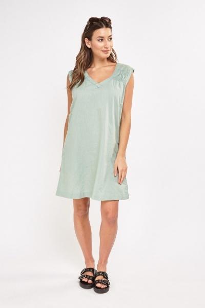 Cotton Blend Tunic Dress