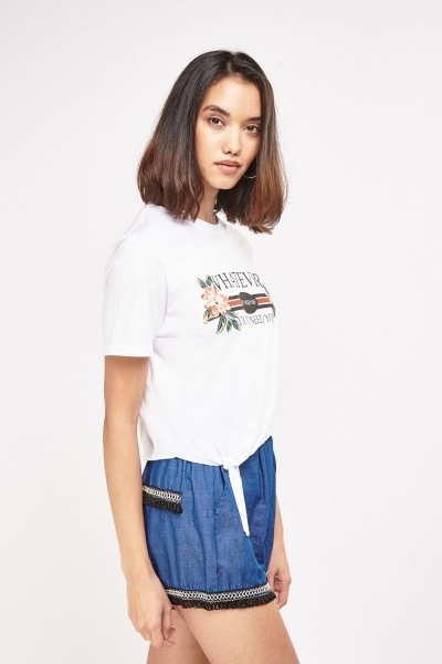 Graphic Cropped T-Shirt