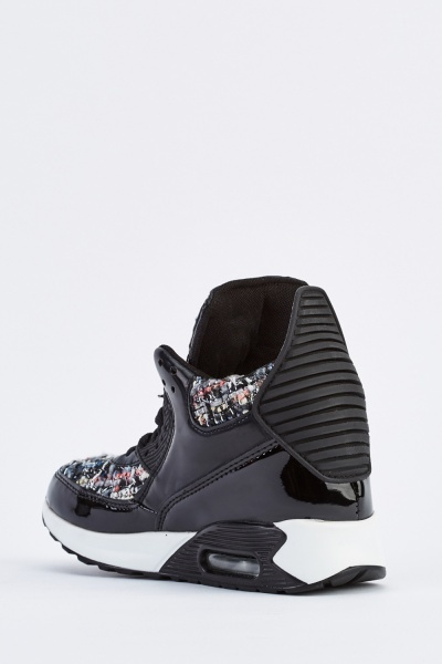 Woven Insert High Top Trainers