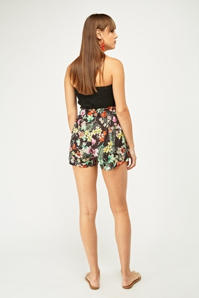 Floral Printed High Waist Shorts