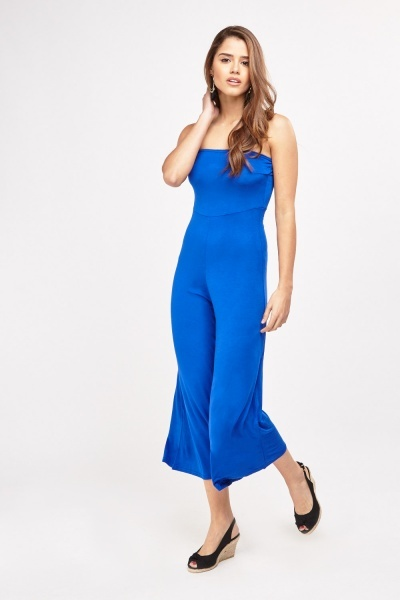 ccd6719ffed Bandeau Wide Leg Culotte Jumpsuit - Royal Blue or Yellow - Just £5