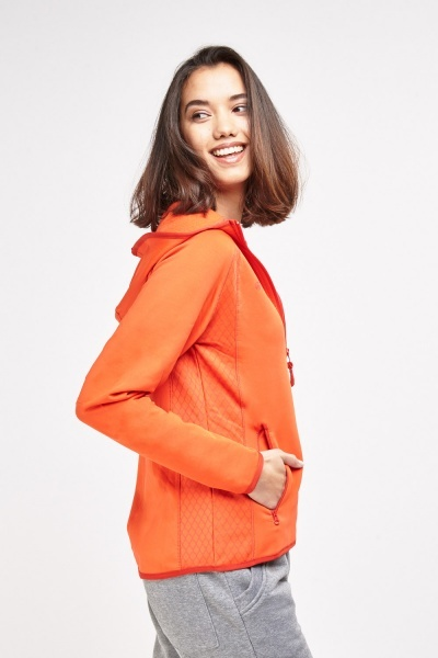 Orange Sports Zipped Jacket