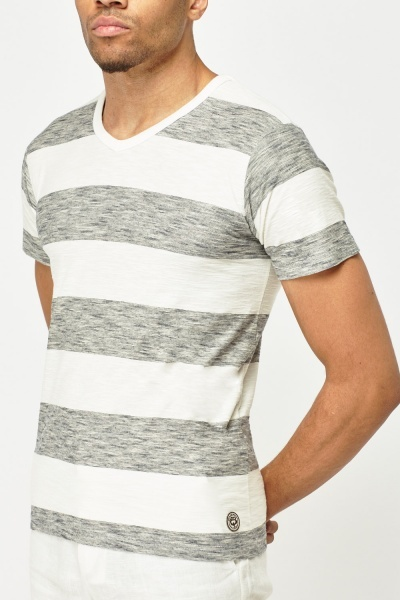 Wide Striped T-Shirt