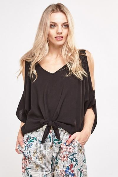 Basic Cut Out Sleeve Top
