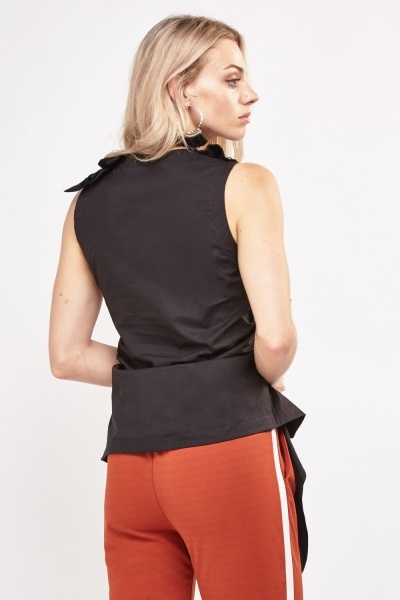 Ruched Side Asymmetric Top