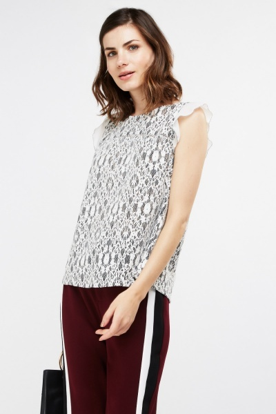 3D Lace Cut Top