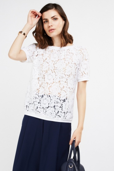 Laser Cut Lace Top