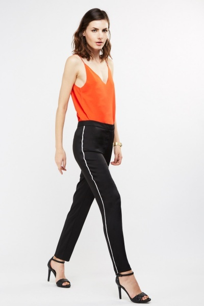 Sateen Cigarette Trousers