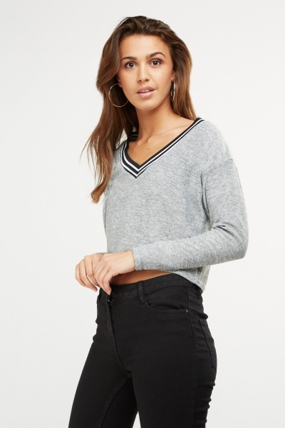 V-Neck Speckled Top