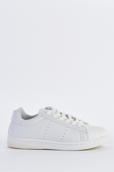 Encrusted Low Top Lace Up Sneakers