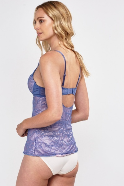 Middle Blue Laced Bustier