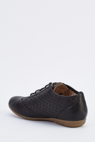 Perforated Lace Up Brogues