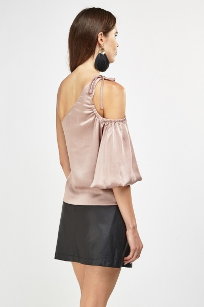 Asymmetric Shoulder Sheer Top