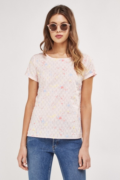 Basic Textured Print Top