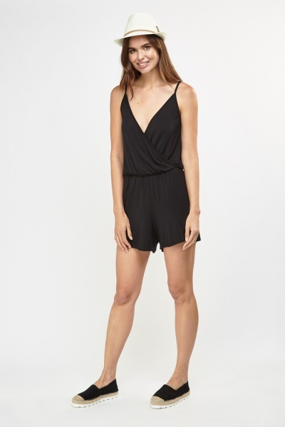 Basic Wrap Front Playsuit