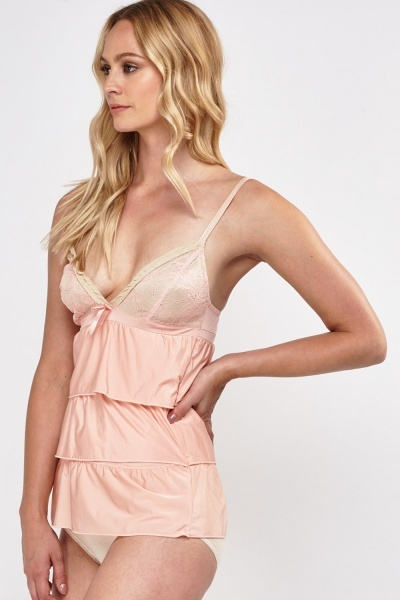 Frilly Layered Triangle Chemise