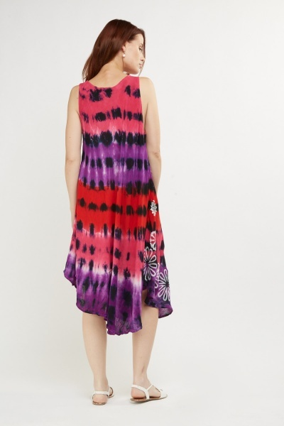 Printed Tie-Dye Tent Dress