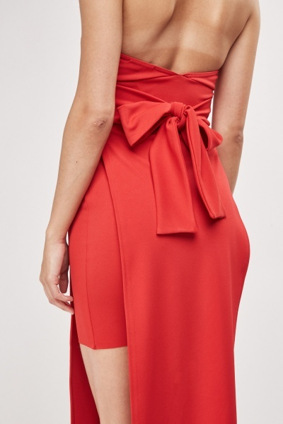 Slit Side Halter Neck Dress