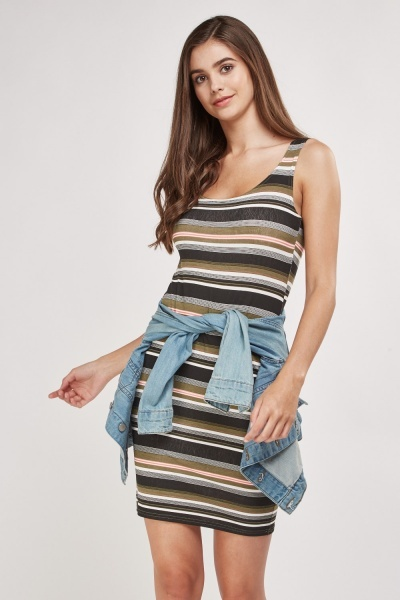 Basic Striped Mini Dress